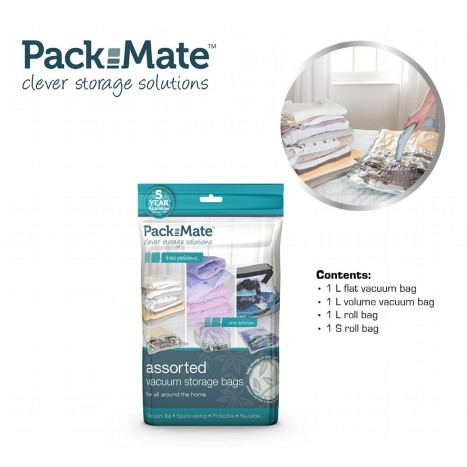 Packmate Vacuüm Opbergzakken 4-delige Set - Flat, Volume + Travel